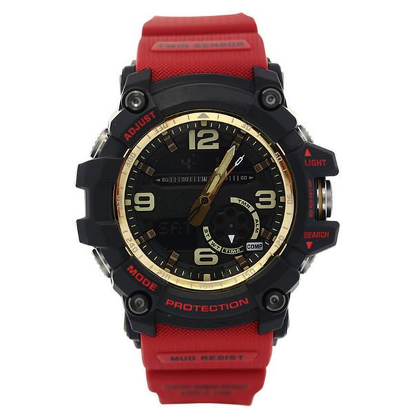 Heiße G1100 + G Box Männer Sport Uhren LED Chronograph Armbanduhr Militäruhr Digitaluhr gutes Geschenk für Männer und Jungen Freies Verschiffen