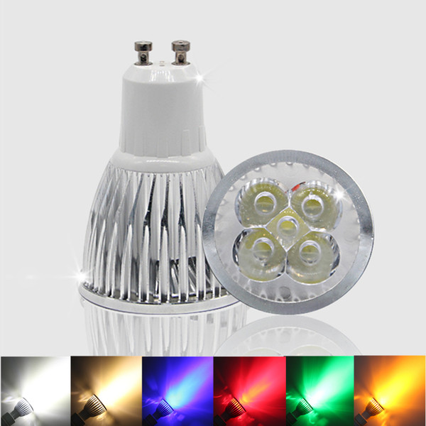 1- 10pcs GU 10 LED Spotlight Dimmable GU10 LED Lamp 3W 4W 5W 110V 220V Red green blue Lampada LED Bulbs light Spot Candle