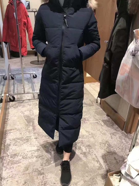 DHL Women Parkas WINTER CANADA Brand MYSTIQUE1 Down & Parkas WITH HOOD/Snowdome jacket Real wolf Collar White Duck/GOOSE Outerwear & Coats