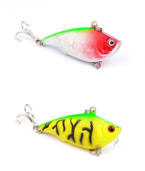 Hot Sale 5pcs Lot Fishing VIB Bait Lures 3d Eyes With Treble Hooks Crankbait 5.5cm/7.5g