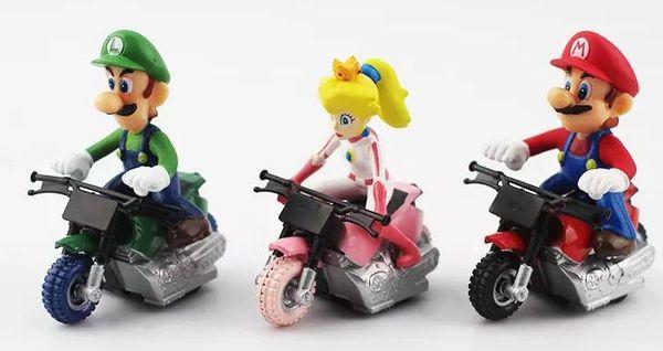 Super Mario Bros Kart Pull Back Car figure Toy 10pcs/set Mario Brother Pullback Cars Dolls 2018 hot seller