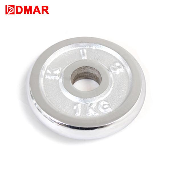 DMAR1pc 1 kg Halteres de Disco para Fitness Halterofilismo Crossfit Equipment Barbell Ginásio Muscular Força ExerciseBarbell