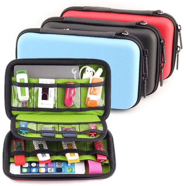"""2.5"""" Portable Accessories Storage Bag Electronic Accessories Bag Men Phone Power Bank SD USB Cable Digital Device Travel"""