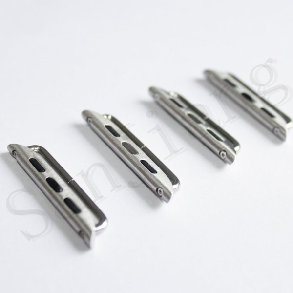 for Apple Watch Series 4 Stainless Steel Adapter Iwatch 40mm 44mm Metal Band Connector DIY Watchband Strap Connector 2pcs/Pair