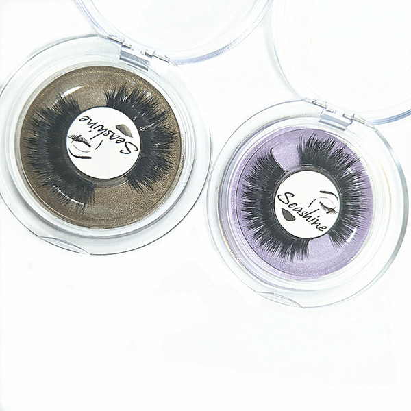 Seashine Private label mink strip 3D mink eyelashes false lashes Thin and soft mink hair natural looking free shipping