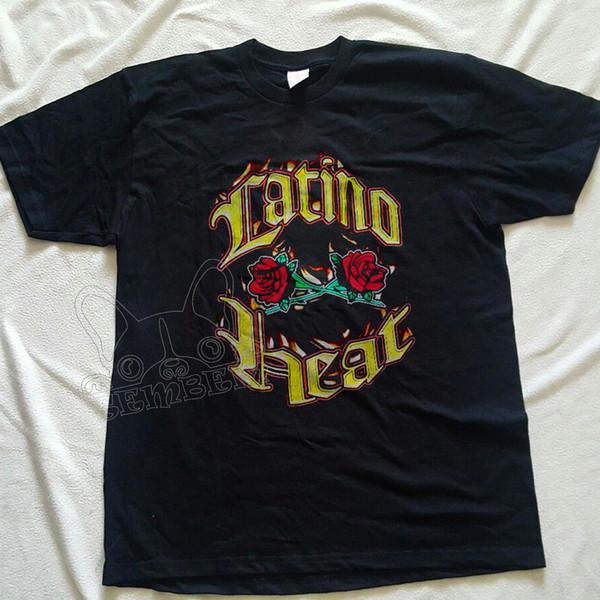 Vintage Latino Heat WWF Eddie Guerrero REPRINT camiseta S-XXL Brand shirts jeans Print Calidad clásica Camiseta alta