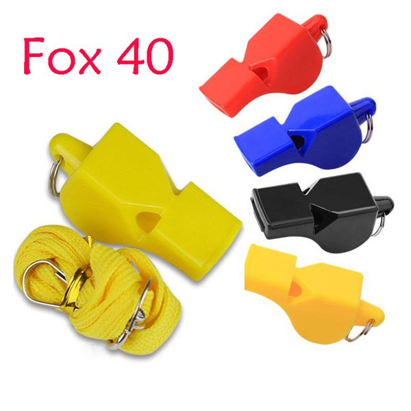 Hot Selling FOX 40 Classic Plastic Whistle 4 Color Basketball Soccer Referee Whistle Outdoor EDCGEAR Sports Accessories Student Gift B240S F