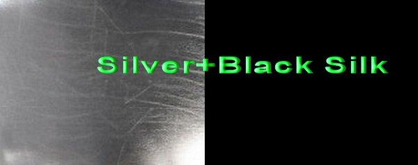 Silver+Black Silk