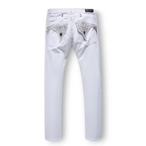 Free Shipping Mens Robin Rock Revival Jeans Crystal Studs Denim Pants Designer Trousers Men's size 32-42 New