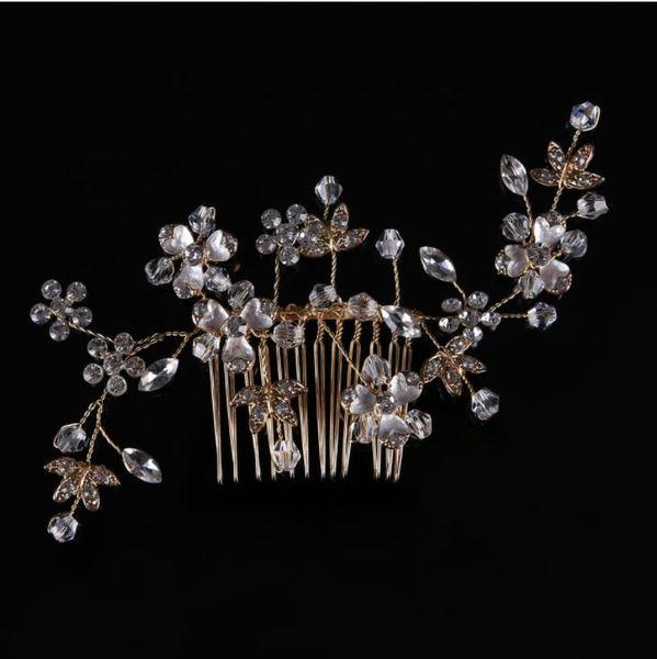 Diamond comb, gold and silver handmade headwear, bridal veil, hair accessories, accessories