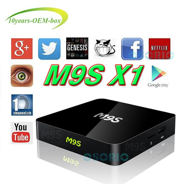 Best Hot M9S X1 4K Amlogic S905X Rockchip RK3229 Quad Core Android 6.0 TV Box Media Player Support WiFi 3D