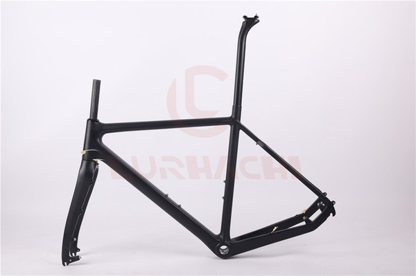 LURHACHI T800 Carbon Fiber Cyclocross Bicycle Frame Carbon Cycle Cross Racing Bike Frame Fork Seat Post Headset Size 51/53/55cm