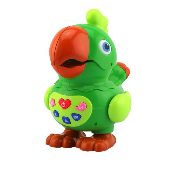 suzakoo learning toy Electric cartoon Parrot vocal Toy animal singing storytelling machine game for children playing