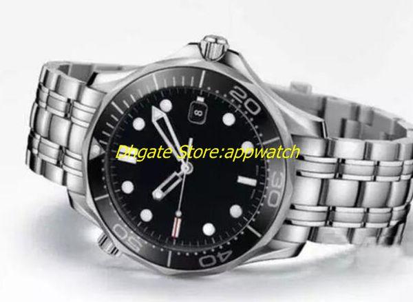 Нержавеющая сталь Хронометр размер 41 мм мужские часы светящийся черный керамический безель / циферблат с автоподзаводом сапфировое горячие случайные человек часы