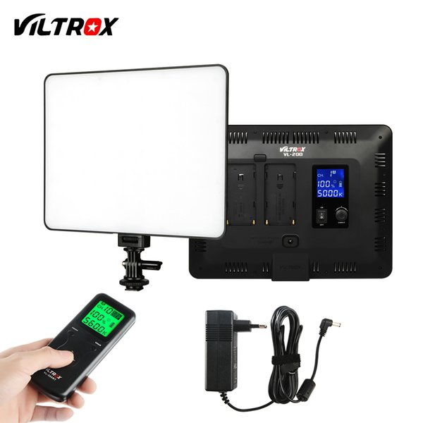 Großhandel VL-200T 12.4 '' Wireless Remote Foto Kamera Video Studio LED Licht Bi-Color Dimmbare + DC Netzteil für Canon Nikon