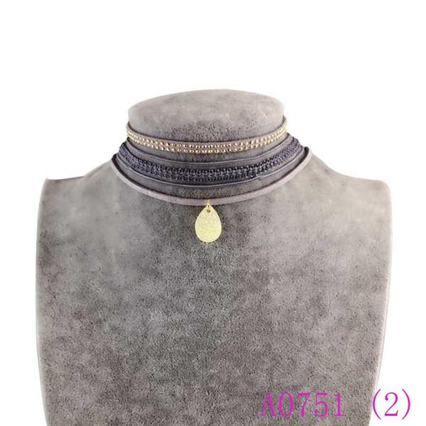 3pcs arbeiten reizvolle Spitze-Blume Waterdrop Rhinestones Anhänger-Frauen-Dame Girl Popular sehr schöne Halskette A0751 um