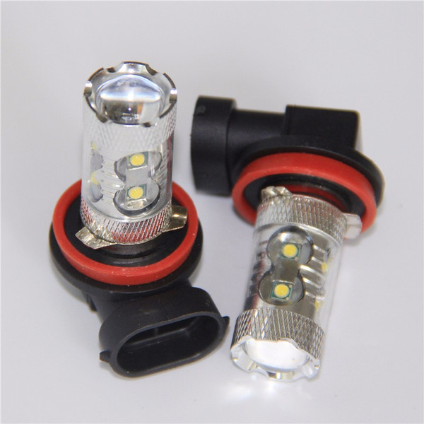 H8 H11 50W 10SMD White Led Light Car Light Source Auto Parking Fog Turn Signal Reverse Tail Lamp Daytime Running Lights