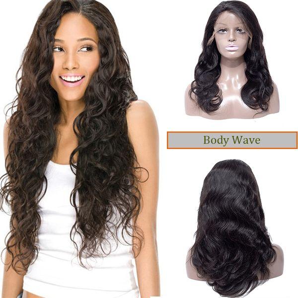 Cheap Human Hair Lace Front Wigs Brazilian Malaysian Peruvian Body Wave Virgin Straight Kinky Curly Hair For Black Women