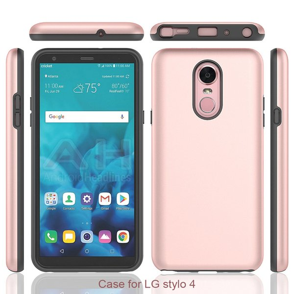 Armor Hybrid Phone Cases For LG RISIO 2 ZTE Avid Trio MAX XL N9560 TPU PC ShockProof Oppbag cheap price