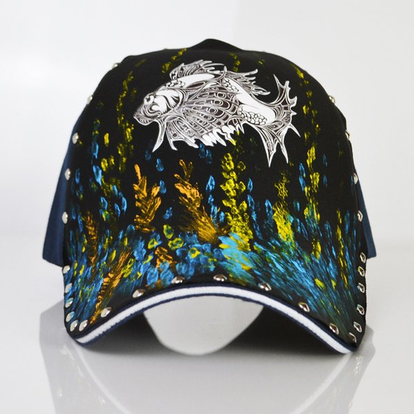 Carp Funny Embroidery Embroidered Adjustable Hat Baseball Cap