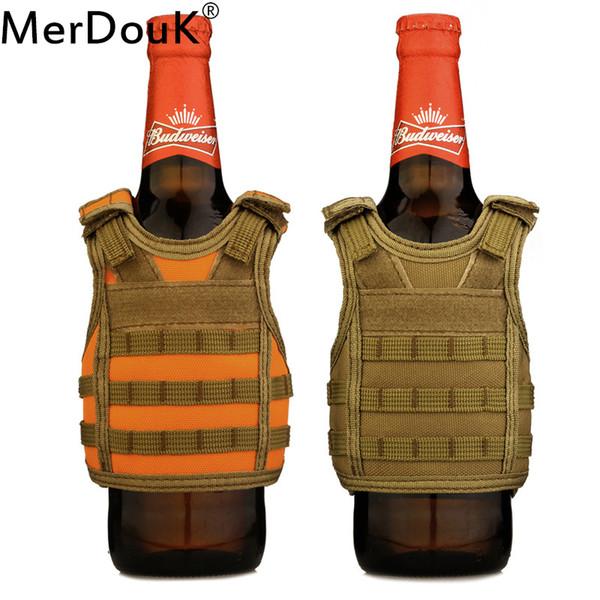 Tactical Vests  Beer  Molle Mini Miniature Vests Beverage Cooler Adjustable Shoulder Straps