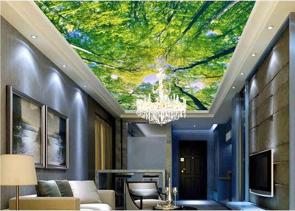 top popular photo wallpaper 3d Forest HD zenith murals 3d mural wallpaper 2021