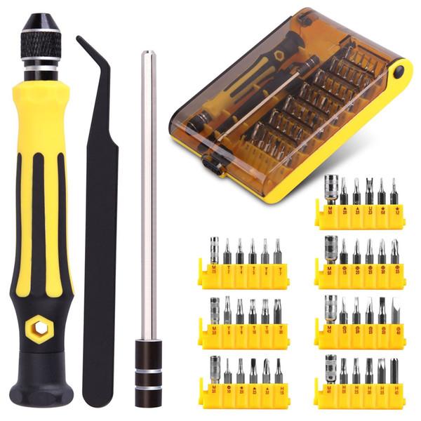 45 in 1 Precision Torx Screwdriver Cell Phone Repair Tool Set Tweezer Mobile Phone Tool Kit Wholesale