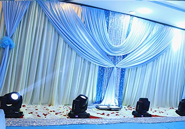 3*6m Wedding Party Stage Celebration Background Silver Sequins Fabric Satin Drape Curtain Pillar Ceiling Backdrop Wedding decorations props