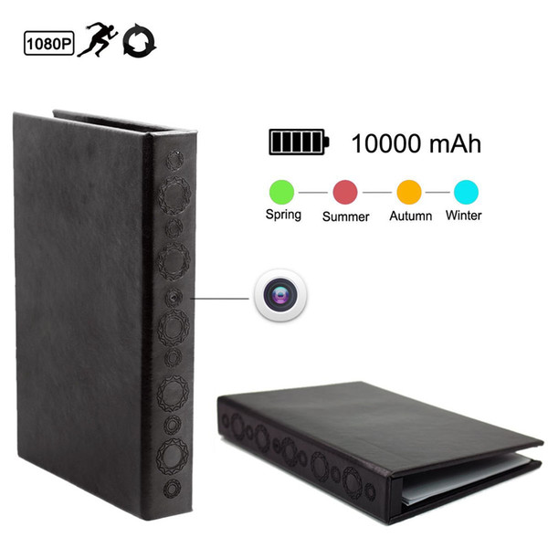 32GB memory PIR Motion-Activated Book Camera with Night Vision, Video Recorder, One-Way Audio, Snapshot, 1080P HD Resolutio PQ109