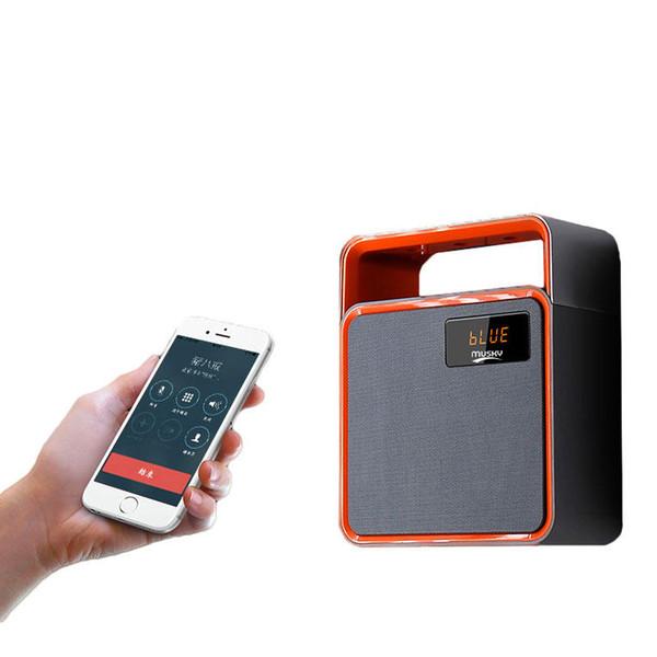 Musky DY31K Bluetooth Speaker Clock Lettore wireless portatile con LED Light Time Display chiamata vivavoce altoparlante FM Radio