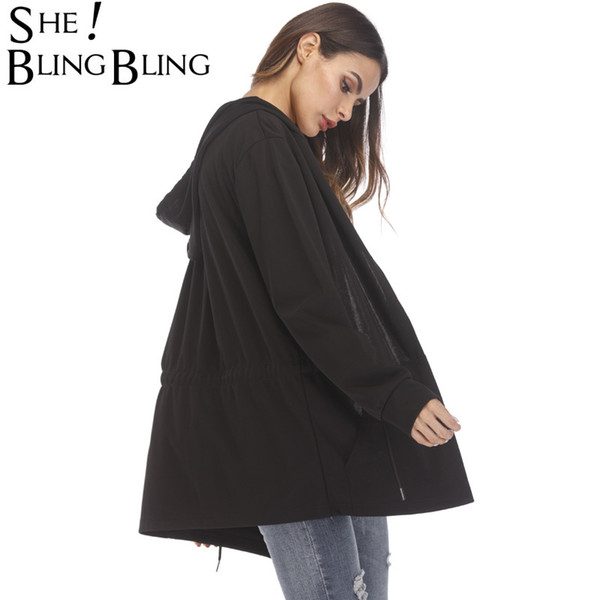 Women Hooded With Black Gown Best Quality Hip Hop Mantle Hoodies and Sweatshirts long Sleeves Design Cloak Winter Coats Outwear L18100701