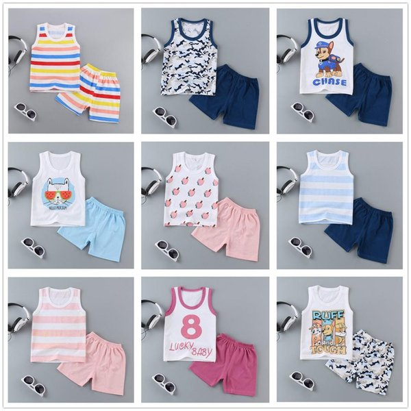 1-5Y Baby Boy Clothes Kids Girl Clothing Set Unisex Kids Cotton Clothes Children Summer Sportswear Casual Play Suit