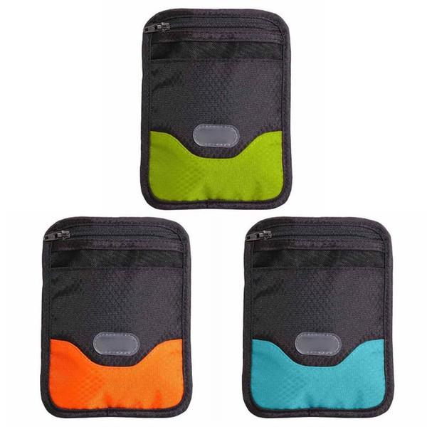 Sports Bag Passport Holder Card Memo Bill Tickets Pen Case Cover Outdoor Running Pocket Document Folder Package Hand Bag Wallet