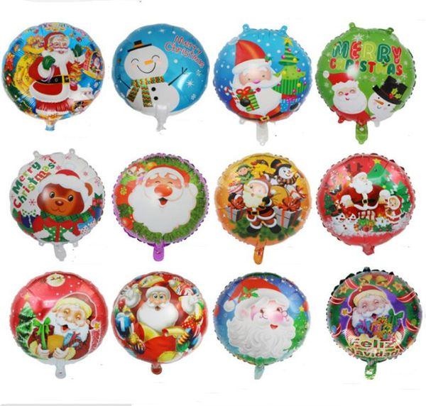 18inch Christmas Aluminum Foil Balloon Santa Snowman Xmas Home Decoration Balloons Birthday Party Supplies Ornament Kids Toy hot