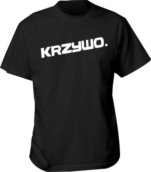 koszulka krzywo polish t shirt polska polski rap hip hop uk prosto mc bluzy Short Sleeves Cotton Fashion Free Shipping