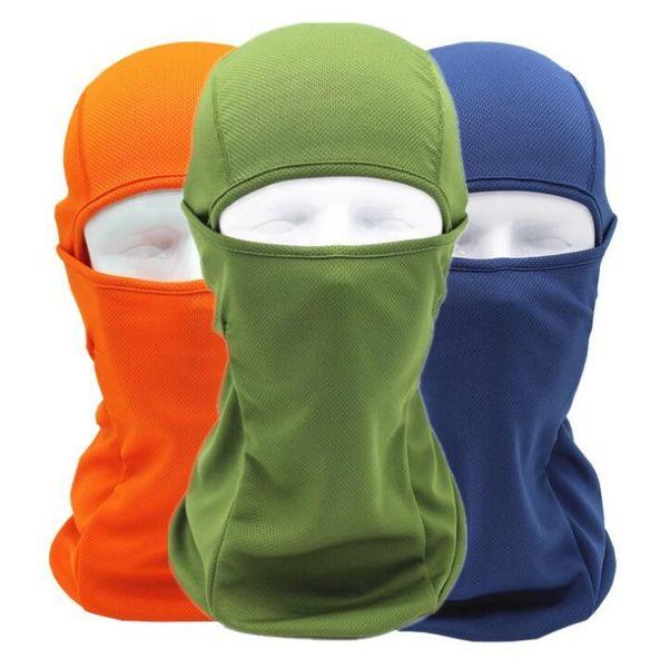 Yaz Nefes CS Tam Yüz Maskesi Motosiklet Kask Ağız Kapak Açık Bisiklet Kayak Göz Açık Koruyucu Başlık Güneş koruma