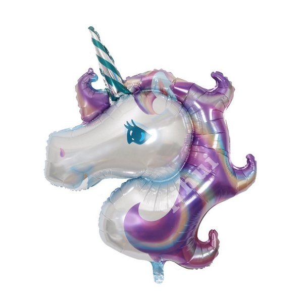 Small Unicorn Safety Aluminum Foil Air Balloons For Home Birthday Party Wedding Decorations Air balloon Lovely