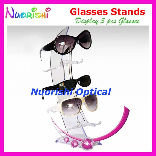 Clear Sailboat Design Óculos Óculos De Sol Eyewear Loja de Óculos Stands Props Prateleira Titular No Contador CK306-5 Frete Grátis