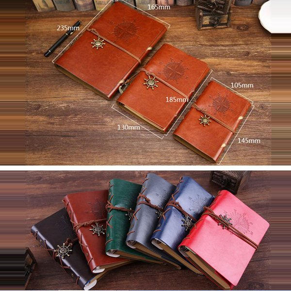 Vintage Diary Notebook Pirate Anchor Decor Voyageur Note Livres Bloc-notes Planner PU Couverture en cuir Cahiers vierges