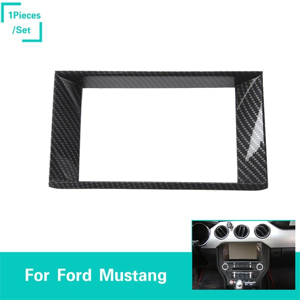 ABS Carbon Fiber Navigation Ring 1PCS Decoration Trim Ring Fit Ford Mustang 2015-2016 High Quality Auto Interior Accessories