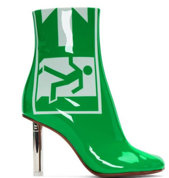 2018 brand new women patent leather boots ladies ankle booties chunky heel boots lighter heel boots chic booties point toe party shoes