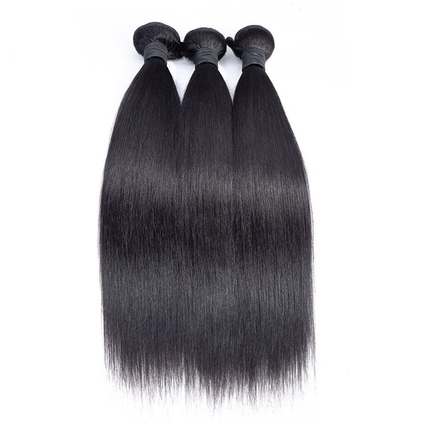 Peruivan Malaysian Indian Brazilian Hair Weave Unprocessed Straight Human Hair Bundles 3pcs Dyeable Virgin Hair Extensions Double Weft
