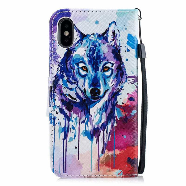 Leather Wallet Case For Iphone XR XS Max X 10 8 7 6 6S Galaxy Note 9 S9 S8 A8 2018 Flamingo Butterfly Cat Dreamcatcher Owl Wolf Flip Cover