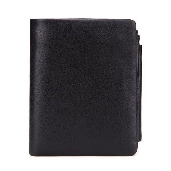 Genuine Crazy Horse Leather Men Wallets Vintage Trifold Wallet Zip Coin Pocket Purse Cowhide Leather Wallet For Mens