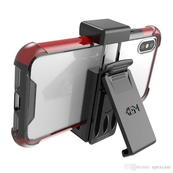 En iyi Evrensel Kılıf Cep Telefonları için Kemer Klipsi Ile Tutucu iPhone X 8 Artı Samsung Galaxy S9 Artı Not 9 Perakende Paketi Uyar