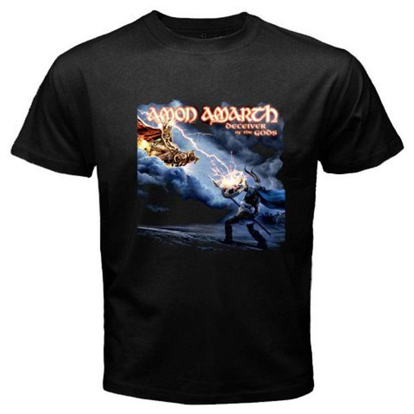 Amon Amarth * Camiseta negra para hombre Deceiver of The Gods Metal Rock Band, talla S-3XL