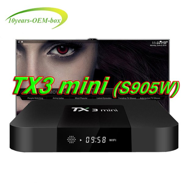 Hot OEM TV Box Android 7.1 TX3 Mini Amlogic S905W 2.4GHz WiFi Smart Set Top Box 1GB + 8GB 3D 4K Support 4K Media Player TX3mini