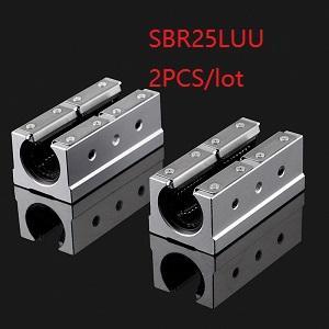 2Pcs SBR25LUU 25mm Linear Ball Motion Bearing Block Free Shipping