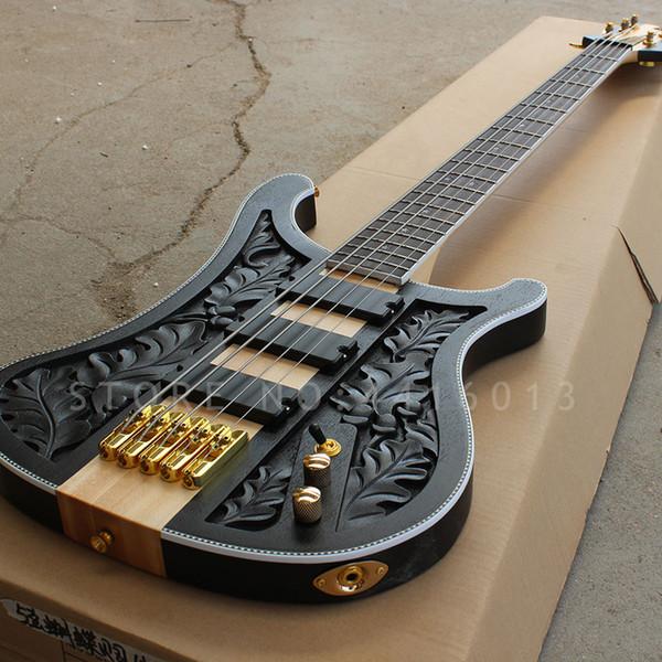 Nouveau Top qualité usine personnalisée Rickenback basse 4 cordes Cou à travers le corps lemmy kilmister modèle basse électrique instrument de musique boutique