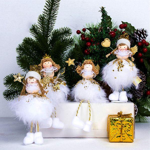 Christmas Angel.New Christmas Angel Girl Dolls Pendant Christmas Tree Decoration For Home Xmas Natal Kids Gift Cute Doll Navidad Decor Noel 2018 D18111202 Christmas